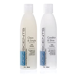 Nonscents shampoo and conditioner set truly for Salon quality shampoo