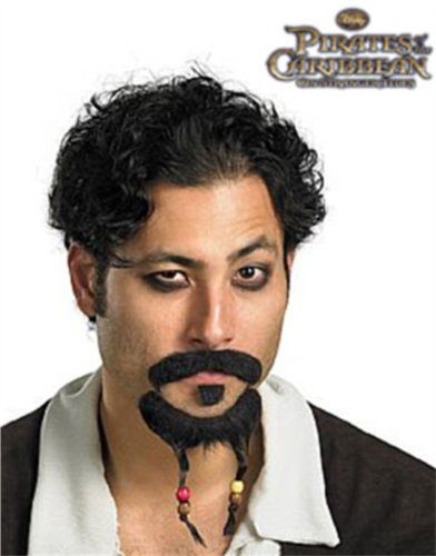 Disguise Kids Pirates Of The Caribbean Goatee And Moustache Multi (Standard) front-999630