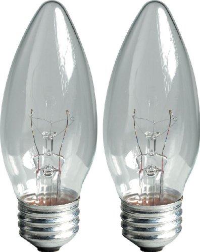 GE Lighting 12993 40-Watt Crystal Clear Blunt Tip Ceiling Fa