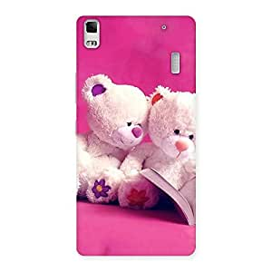 Cute Twin Teddy Multicolor Back Case Cover for Lenovo K3 Note
