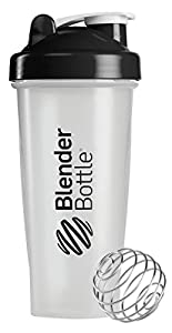 BlenderBottle Classic Shaker Bottle, 28-ounce, Clear/Black