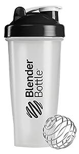 BlenderBottle Classic Shaker Bottle, 28-ounce, Clear/Black