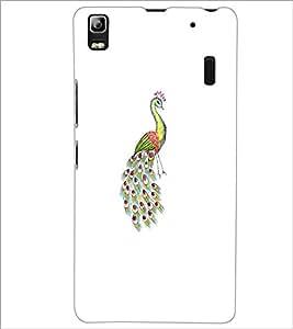 PrintDhaba Peacock D-4745 Back Case Cover for LENOVO K3 NOTE (Multi-Coloured)