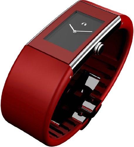 Rosendahl Watch II 43178 - Reloj de mujer de cuarzo, correa de goma color rojo