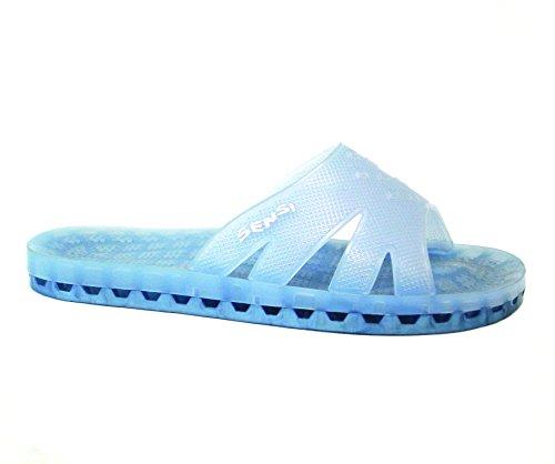 9e59f05a179ca Sensi Capri Classic Shower Spa Sandals Unisex Sea (Us 5 Sensi 5 6)