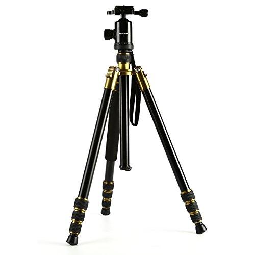 Kamera-Stativ-KF-Concept-Stativ-ReiseLeicht-StativStativ-DreibeinFotostativReisestativ-fr-Canon-Nikon-Petax-Sony-DSLR-mit-3D-Kugelkopf-Schnellwechselplatte-und-Einbeinsativ-Funktion