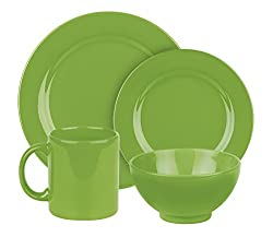 Waechtersbach 4-Piece Fun Factory Place Setting, Green Apple