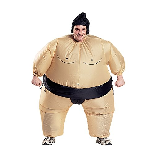 Inflatable Sumo Wrestler Fancy Dress Costume Fat Suit Hen Stag Night Outfit