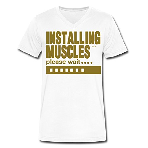 Yrewer Installing Muscles Please Wait Top Men's T-shirts White