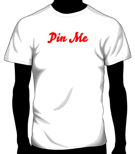 Pinterest – Pin Me Printed Tee – White| Adult Medium