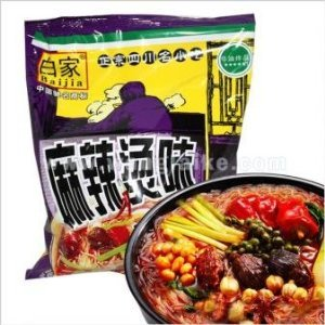 Sichuan Baijia Instant Sweat Potato Threadnoodle Hot Spicy Flavor 370 Oz Pack Of 8 by Sichuan Baijia Food Co., Ltd