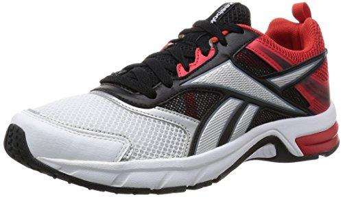 ReebokPheehan Run 4.0 - Scarpe Running uomo , Bianco (White (White/Black/Motor Red/Silver Met/Dark Silver)), 43