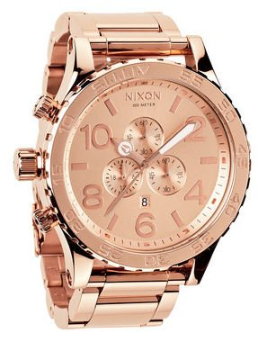 Nixon 51-30 Chrono Watch - Men's All Rose Gold, One Size
