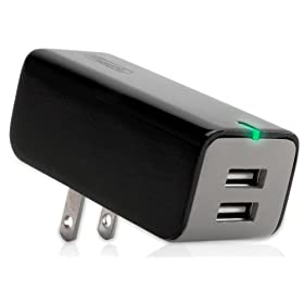 Griffin 7263 PowerBlock Dual Universal Charger for MP3 Players and USB Devices (Black)