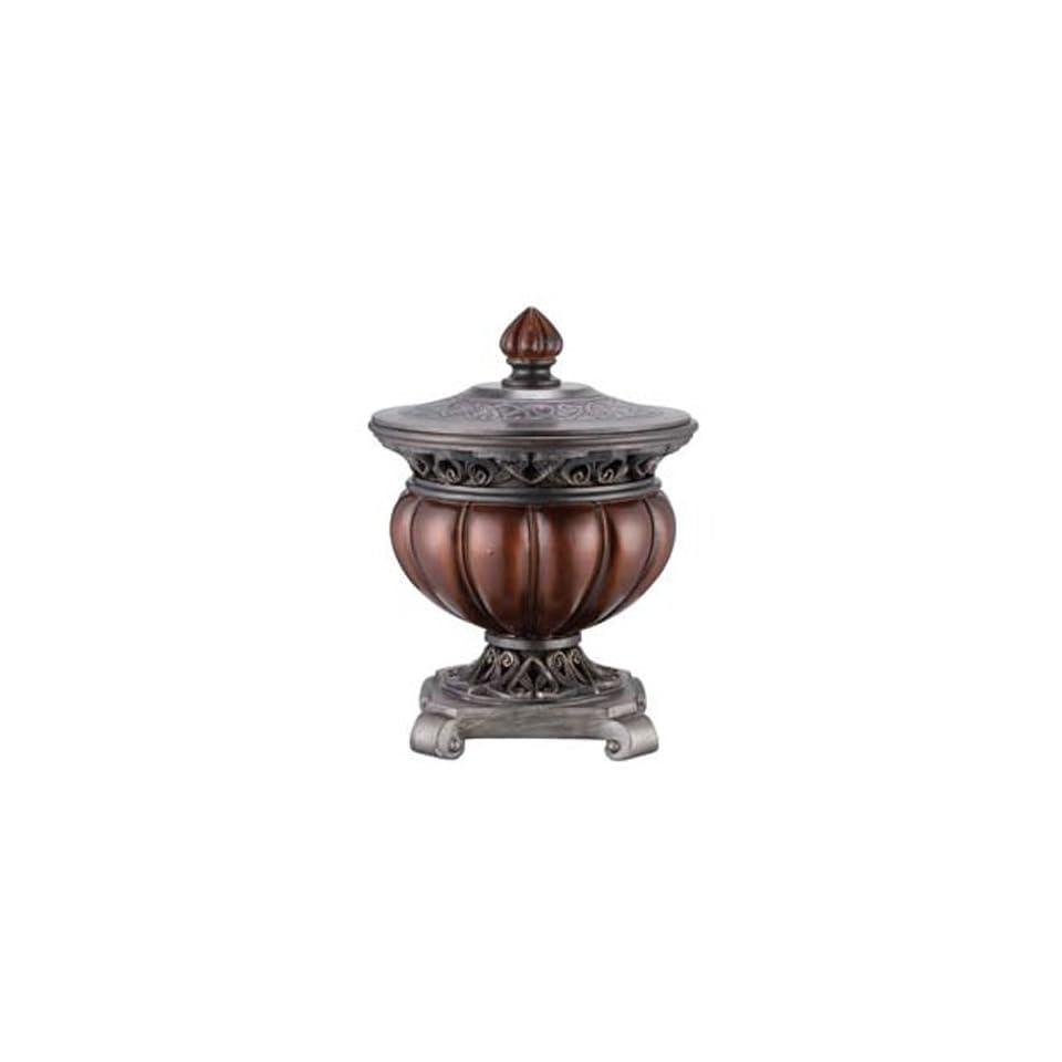 Antique Bronze Decorative Round Jewelry Box