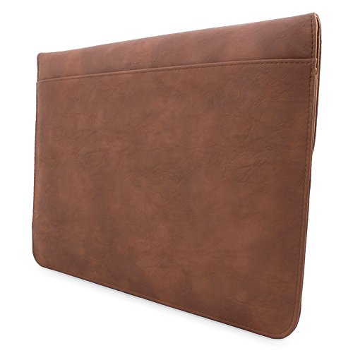 08. Snugg Macbook 12 Inch Case - Leather Sleeve Case with Lifetime Guarantee (Distressed Brown) for Apple MacBook 12 with Retina