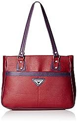 Fantosy Women's Handbag (Maroon and Purple) (FNB-367)