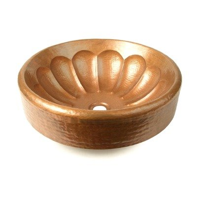 Scalloped Apron Copper Vessel Sink Finish: Dark Smoke Copper