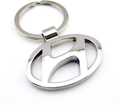 Hyundai Logo Metal Keychain