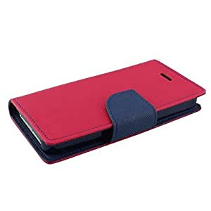 J.N Mercury Fancy Diary Card Wallet Flip Case Back Cover For Micromax D-BOLT Q320-Pink