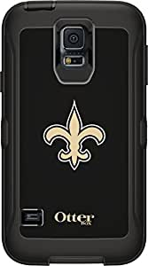 OtterBox Defender Case for Samsung GALAXY S5 - Retail Packaging - NFL Saints (Black, New Orleans Saints NFL Logo)