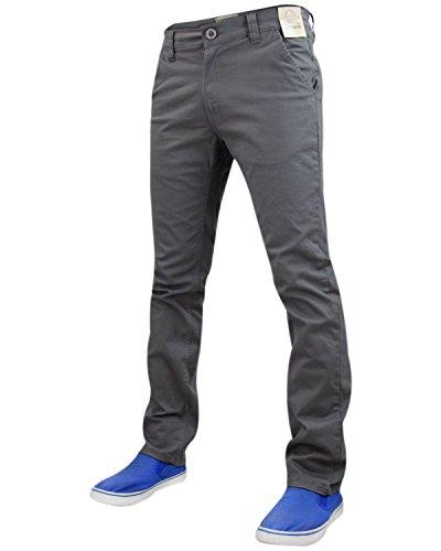 Nuovo design mens Jack Sud Stretch Slim Fit Chino pantaloni a gamba dritta pantaloni Mid Grey 34W x 32L