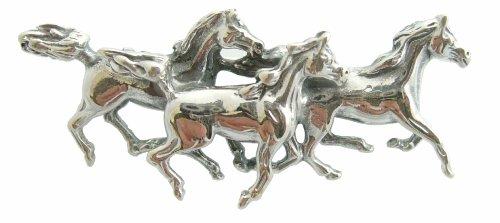Brosche Pferde im Art Deco 925 Silber