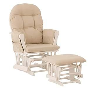 Premium Nursery Glider And Ottoman Rocker Chair Storkcraft In Whi