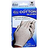 Dermatological cotton gloves - ladies regular, cara 82 (2 Pack), Medium