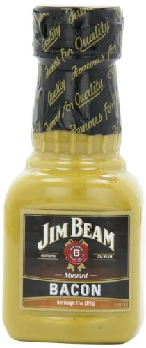 Jim Beam Bacon Mustard, 11-Ounce (Pack of 6)