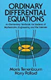 img - for Morris Tenenbaum: Ordinary Differential Equations (Paperback - Revised Ed.); 1985 Edition book / textbook / text book
