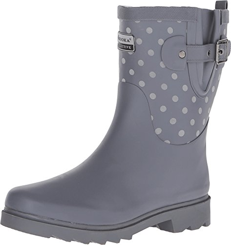 Chooka Flash Dot Mid Women's Boot 7 B(M) US Charcoal (Stylish Rain Boots compare prices)
