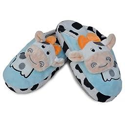 Pop Up Cow Design Slipper Blue Size J12