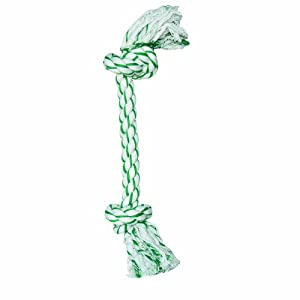 Dogit Knotted Rope Bone Toy, Mint, X-Large