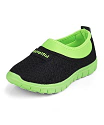 Kittens Boys Black/Green Mesh Sneakers (KTB158) - 11.5 UK