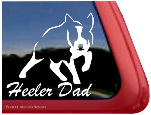 Heeler Dad ~ High Quality Australian Cattle Dog Vinyl Window Decal front-430299