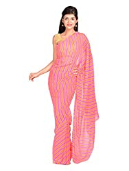 Aradhya Rajasthani Leheriya Georgette Saree
