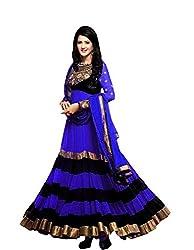Clickedia Women Georgette Dress material (Sushmita blue_Blue_Blue_Free Size)