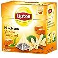 Lipton Black Tea, Vanilla Caramel Truffle, Premium Pyramid, 20 Count Box