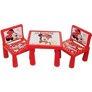 minnie mouse kindersitzgruppe kunststoff kindertisch mit. Black Bedroom Furniture Sets. Home Design Ideas
