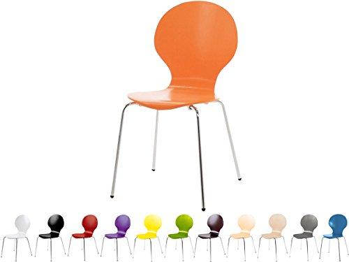 Stapelstuhl-Bistrostuhl-Stuhl-Esszimmerstuhl-Kchenstuhl-Design-Metall-Holz-stapelbar-sehr-belastbar-Marcus-Orange