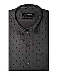 Dennison Grey Dollar Printed Mens Semi Formal Slim Fit Shirt
