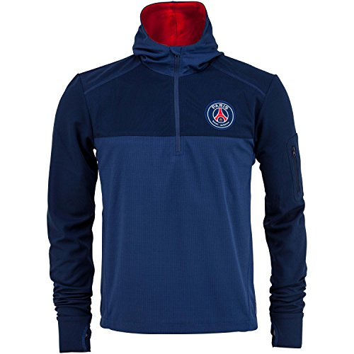 -Felpa Training PSG-Collezione ufficiale Paris Saint Germain-Taglia adulto uomo, Uomo, blu, L