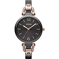 Fossil Georgia Three Hand Stainless Steel Watch - Smoke And Rose Es3111 from FOSSIL