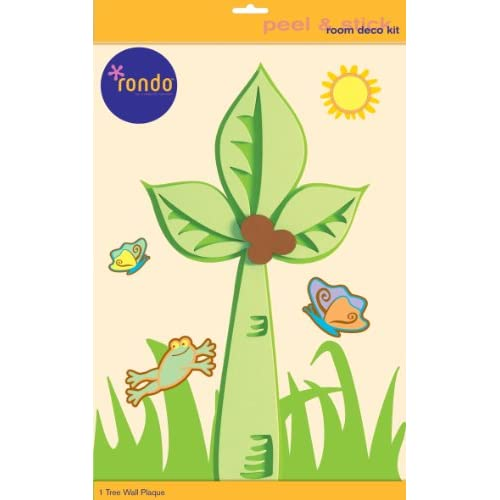 Rondo 4596E Baby and Kids Room Wall Decoration stickers 3 D Foam Tree