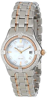 Citizen Women's EW2066-58D The Signature Collection Eco-Drive Quattro Diamond Watch