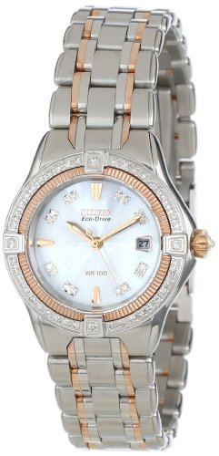 CITIZEN SIGNATURE ECO-DRIVE QUATTRO DIAMOND EW2066-58D LADIES DIAMONDS WATCH