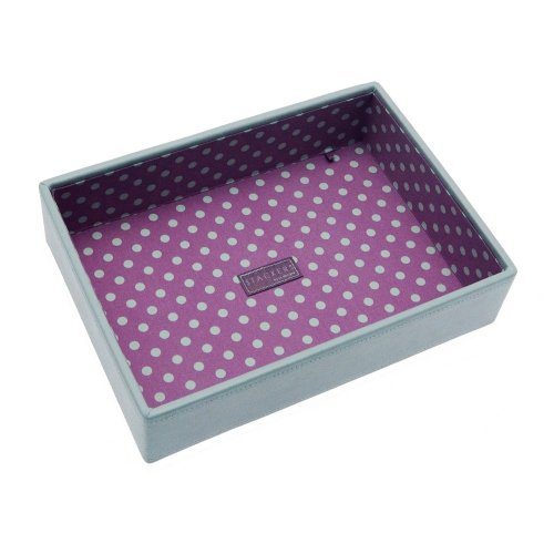 Medium Blue Pink Stacker Jewellery Tray -No Sections