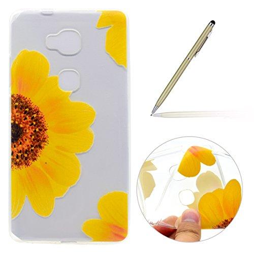 felfy-funda-huawei-honor-5x-case-carcasa-ultra-fina-silicona-tpu-suave-gel-flexible-pintura-girasol-