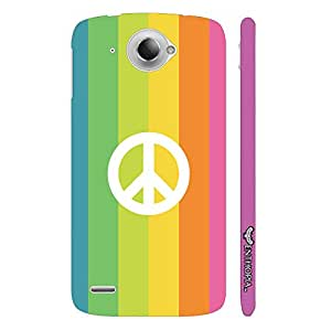 Lenovo S 920 PEACE IN A RAINBOW designer mobile hard shell case by Enthopia